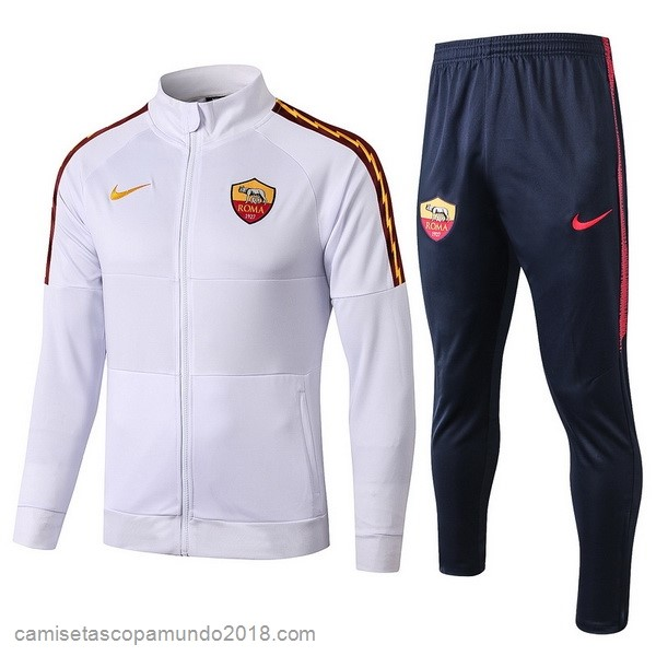 Baratas Originales Todo Chandal AS Roma 19-20 Blanco Azul