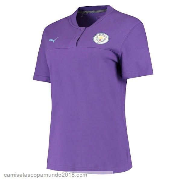 Baratas Originales Todo Polo Manchester City 19-20 Purpura