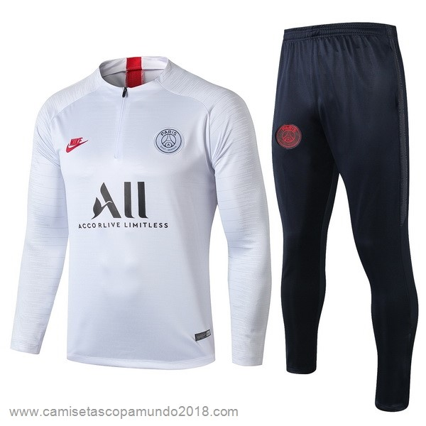 Baratas Originales Todo Chandal Paris Saint Germain 19-20 Blanco Azul Rojo