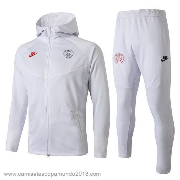 Baratas Originales Todo Chandal Paris Saint Germain 19-20 Blanco Rojo