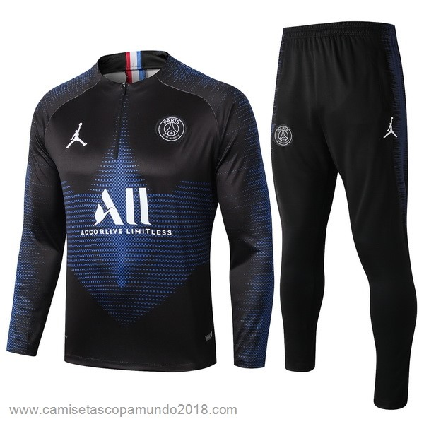 Baratas Originales Todo Chandal Paris Saint Germain 19-20 Negro Azul Blanco