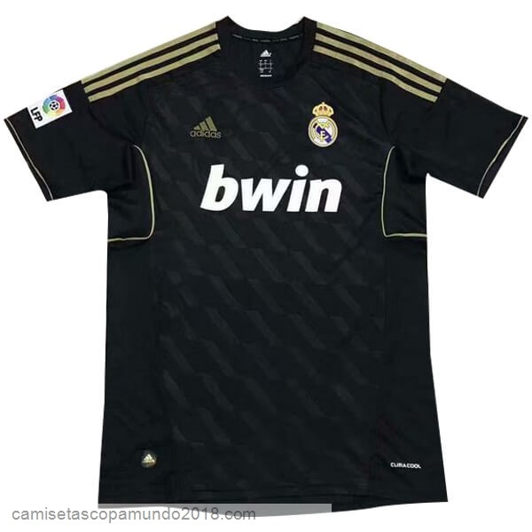Baratas Originales Todo 2ª Camiseta Real Madrid Retro 11 12 Negro