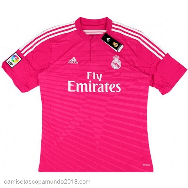 Baratas Originales Todo 2ª Camiseta Real Madrid Retro 2014 2015 Rosa