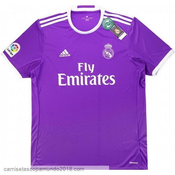 Baratas Originales Todo 2ª Camiseta Real Madrid Retro 2016 2017 Purpura