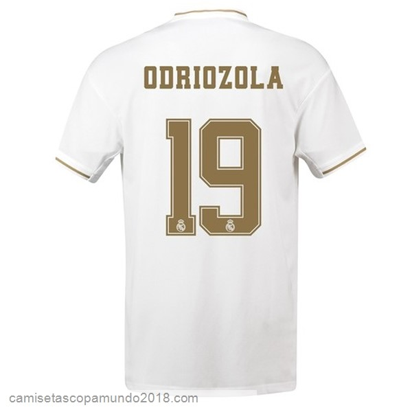 Baratas Originales Todo NO.19 Odriozola 1ª Camiseta Real Madrid 19-20 Blanco
