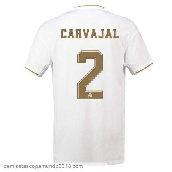 Baratas Originales Todo NO.2 Carvajal 1ª Camiseta Real Madrid 19-20 Blanco