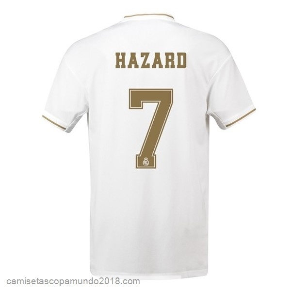 Baratas Originales Todo NO.7 Hazard 1ª Camiseta Real Madrid 19-20 Blanco